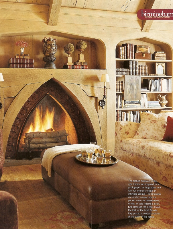 16 best gothic revival images on pinterest libraries for Tudor style fireplace