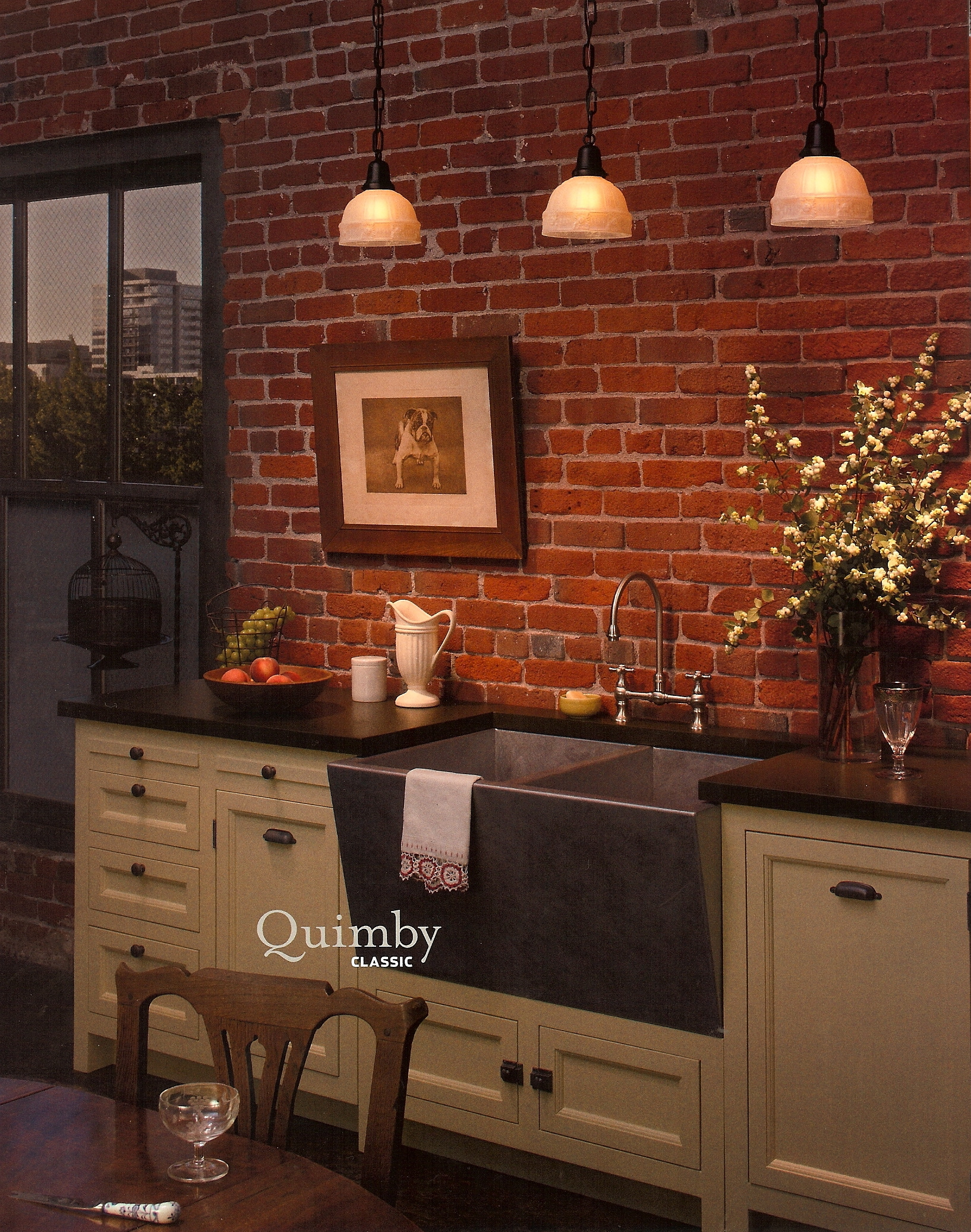 Pleasing Brick Wall And Kitchen Home Design And Decor Reviews Home Remodeling Inspirations Genioncuboardxyz