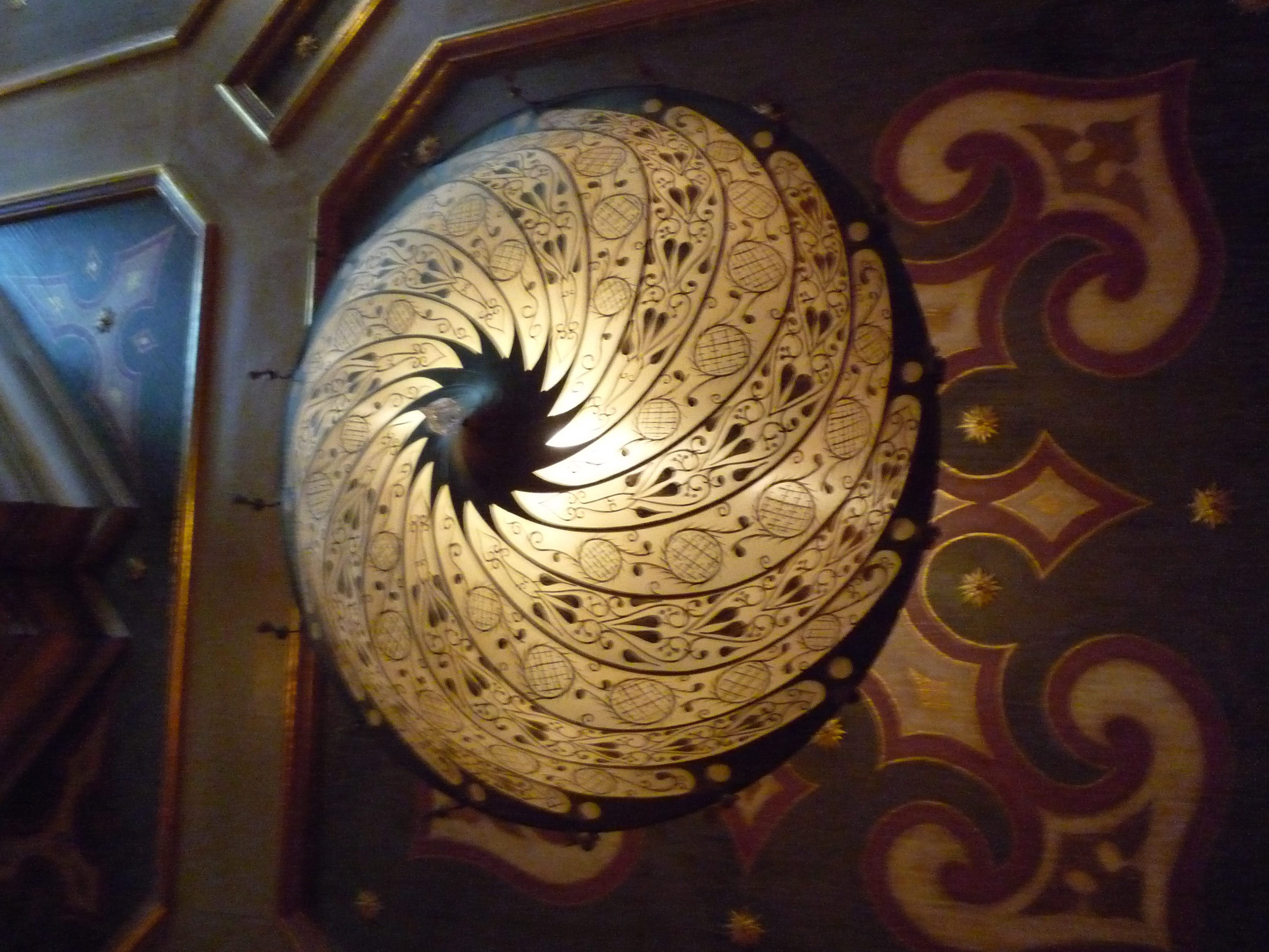 A Riot Of Pattern And Color At The Inn at Little Washington – Fortuny Chandeliers